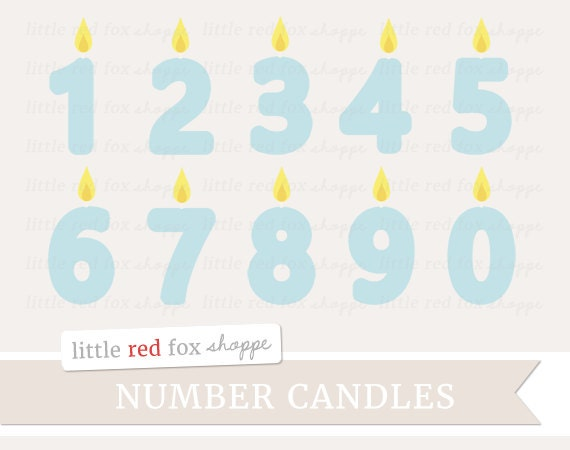 Birthday Candle Clipart Number Candle Clip Art Kids Party