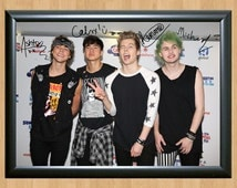 5 Seconds of Summer Michael Clifford Irwin Signed Autographed A4 Photo Print CD