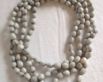 Natural Seed Necklace - Extra Long