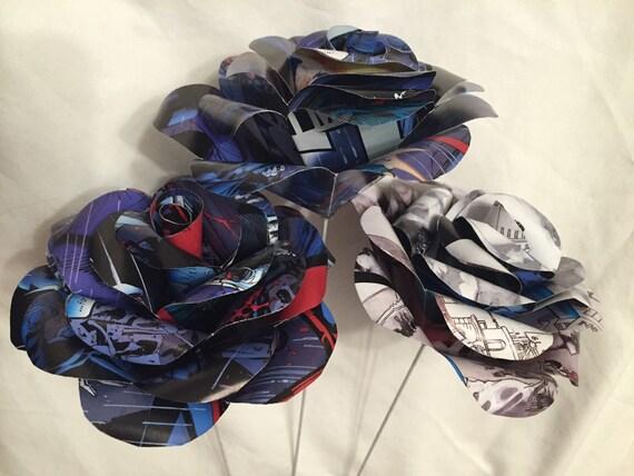 Batman Wedding Gift: Batman Comic Paper Rose Paper Roses Gift For Her Superhero