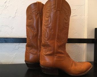 Vintage Tony Lama Women's Western Boots Size 7 1/2 Southwest Style