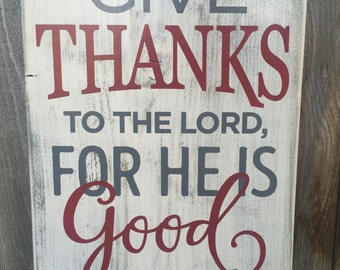 Give Thanks, Wood Sign, Home Decor