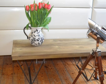 Industrial Coffee Table  Mid Century Modern Style Hairpin Legs