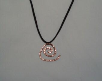 Copper Triangle Pendant