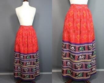 Ikat Skirt.......Colorful Ikat Maxi Skirt