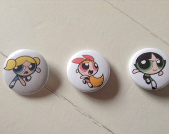Powerpuff Girls Pinback Button Set of 3 (31mm)