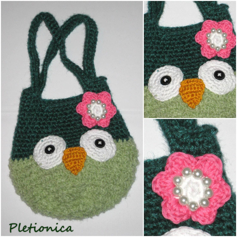 Crochet owl bag pattern easy crochet pattern girls purse crochet this is a digital file bankloansurffo Image collections