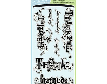 "Inkadinkado ""Thankful for Everything"" - Clear stamps"