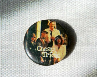 Vintage Late 1970s Cheap Trick Band Photo Pin / Button / Badge