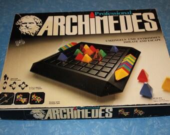 Vintage Professional Archimedes Board Game - Complete