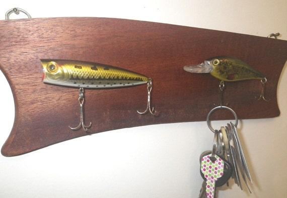 Man Cave Fishing Decor : Man cave fishing decor key holder rack