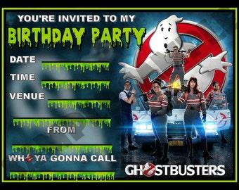 Ghostbusters Birthday Party Invitation / Invites