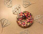 Diamond donut toppers// set of six// bridal shower decor// engagement brunch// donut topper