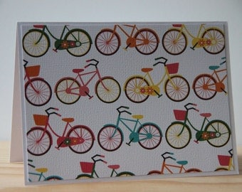 12 Bicycle Note Card Set. Blank Note Card Set. Thank You Card Set. Stationery Gift Set. Bicycle Party Invitations.  Retro Bicycle Cards