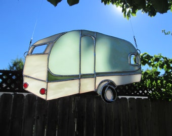 Travel Trailer Suncatcher,  Canned Ham, Caravan, RV, Camper