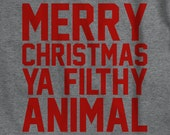 Merry Christmas Ya Filthy Animal - Funny Home Alone Kevin 90's tumblr twitter shirt