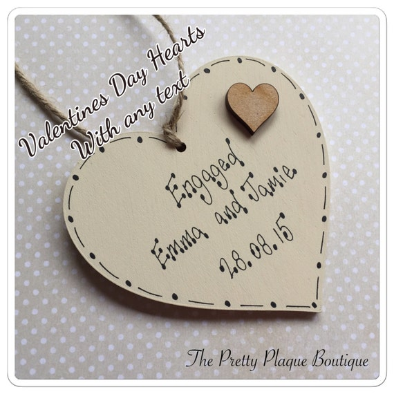Personalised Wedding Gifts Quick Delivery : Personalised wooden heart plaque special Valentines Day Gift, Wedding ...