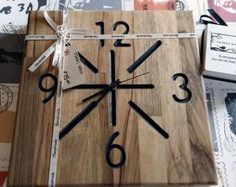 Clock solid wood handmade