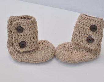 """Crochet Baby boy """"Ugg"""" style boots, newborn, infant boots/booties"""