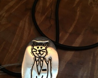 925 cat necklace (pin)