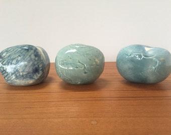 Set of 3 Studio Pottery Rattles
