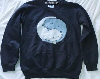 Ying Yang kittens crewneck sweatshirt