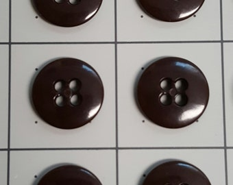 Suspenders buttons set of 6/ brown