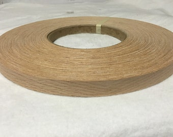 "Red oak preglued Wood veneer edgebanding [1/2"" to 3""x250']"