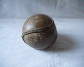 GORGEOUS antique OUTSEAM playground SOFTBALL baseball ball stitching 1930s ball stiching leather sports old Rare collector collectible seam