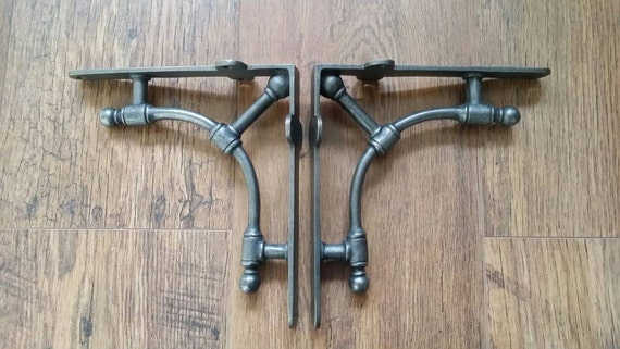 Gas Pipe Industrial Style Brackets 1 Pair 7 Quot X 7 5 Quot Wall