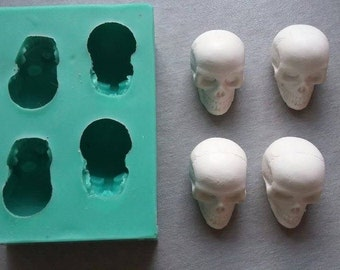Silicone Mould SKULLS Sugarcraft Cake Decorating Fondant / fimo mold