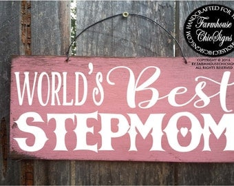 stepmom gift, gift for stepmom, stepmom sign, mother's day gift stepmom, stepmom, stepmother, stepmother gift, step mom, step mother, 229