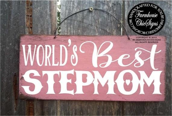 stepmom gift, gift for stepmom, stepmom sign, mother's day gift stepmom, stepmom, stepmother, stepmother gift, step mom, step mother, 229