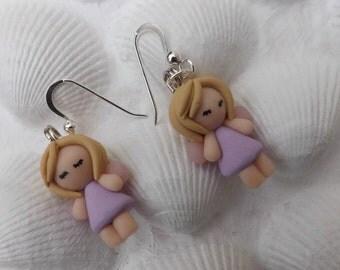Fairy earrings, angel earrings, festive earrings, Christmas earrings, fairy jewellery, pixie earrings sterling silver wires,
