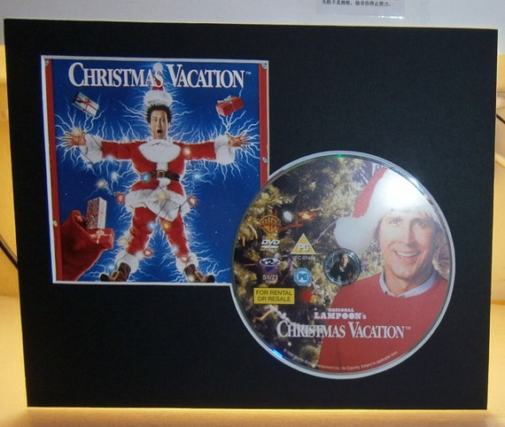 National Lampoon's Christmas Vacation Chevy Chase Beverly D'Angelo Mounted Framed DVD