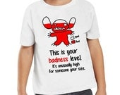 Disney Lilo and Stitch Stitch This is Your Badness Level It's Unusually High For Someone Your Size Tshirt Baby Onesie Shirt Disneyland WDW
