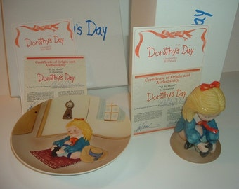 1980 Dorothys Day by Bill Mack All By Myself Plate & Figurine w Boxes COAs