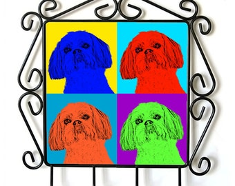 Shih Tzu- clothes hanger with an image of a dog. Collection. Andy Warhol Style