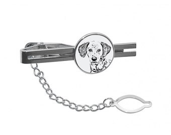 NEW! Dalmatian - Tie pin with an image of a dog.