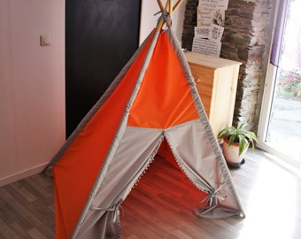 big kids teepee, teepee tent, tent play tent, NO WOOD POLES