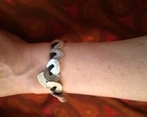 Fine silver disc bracelet