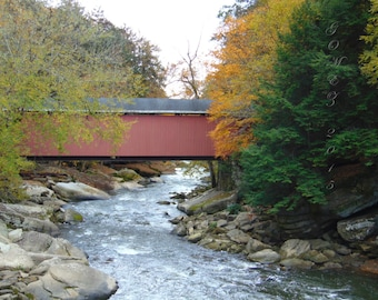 Covered Bridge - photography, art, nature, print