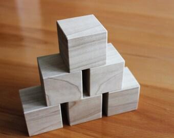 20 Square wood blocks, wood building blocks, all natural wooden toy. Handmade Wood block set. Baby Shower Blocks, Decorating Blocks