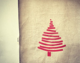Limited edition Christmas supersized linen teatowel