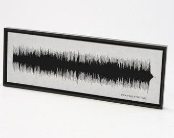 Praying For Time - Sound Wave Song Art Print, Framed Print, Canvas, Framed Canvas