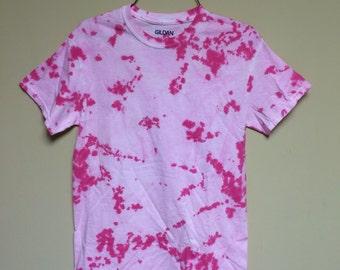 Hot and Pastel Pink Tye Dye Tee Shirt