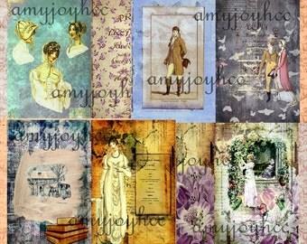 SALE Journals of Jane Set 5 - Jane Austen Digital Journal Kit - Printable Journal Regency - Book Lover Printables - Digital Junk Journal