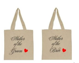 Mothers of Bride and Groom totes, Wedding party totes, parents tote bags, mother's totes, mother of bride tote, mother of groom tote