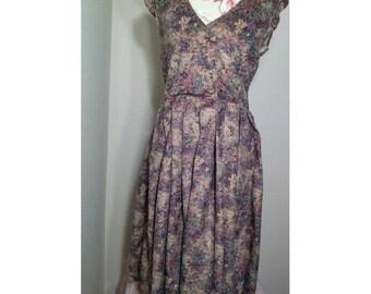Vintage Handmade Floral Dress size M