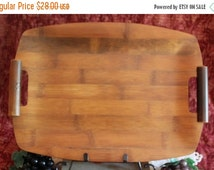 "Summer Heat SALE Ito's Bamboo Crafts 16"" Handled Serving Tray - Made only in Japan"